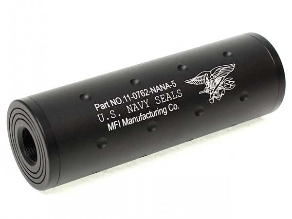 【FMA】 Navy Seals サイレンサー 108mm BK ブラック