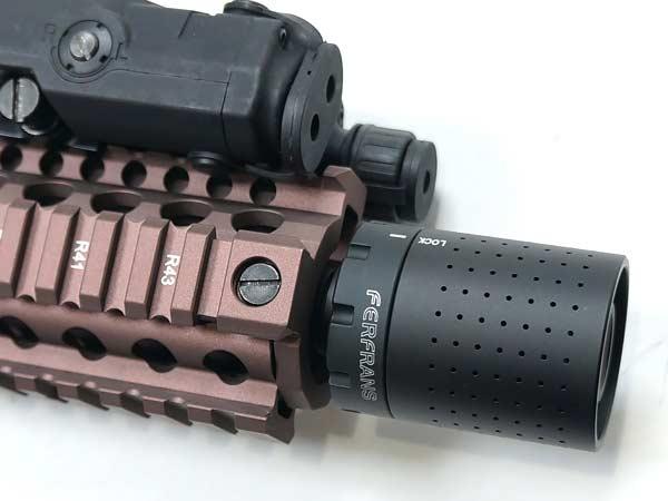 【5KU】Ferfrans CRDスタイル モジュラーマズルデバイス 14mm逆ネジ(CCW) 【ハイダー&ブラストシールドセット】 / 5KU-206