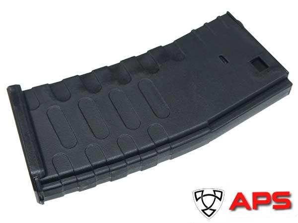 【APS製】High Cap M4 U-MAG 300連 多弾数マガジ [ スタンダード M4 電動ガン対応 ] BK / AER032B