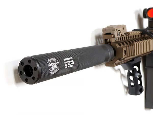 CYMA(シーマ)製 φ32mm×199mm サイレンサー(SOPMOD N.S.W 刻印)