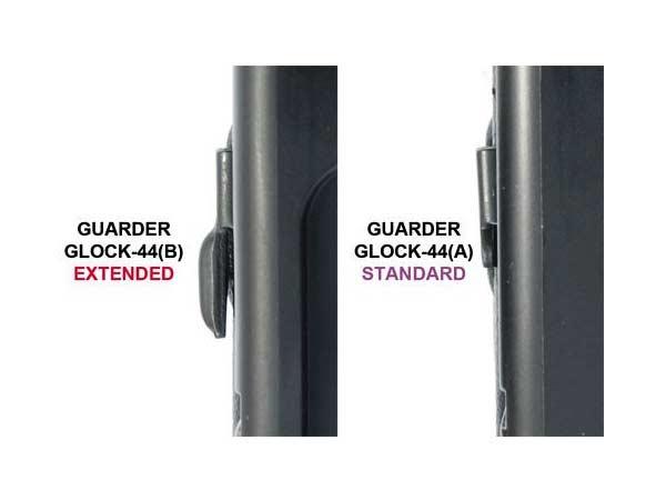 【GUARDER(ガーダー)製】G26/G17/G19//G18C/G22/G34シリーズ用 エクステンデッド スチールスライドストップ GLOCK-44(B)BK
