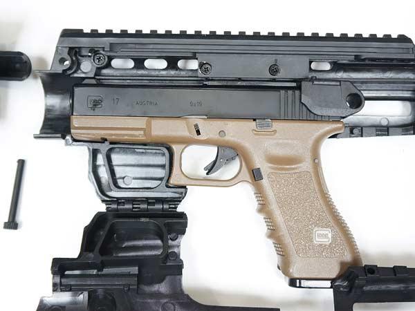 【APS製】グロック カービンコンバージョンキット [ Caribe Conversion Kit ] BK / GN-SA011B