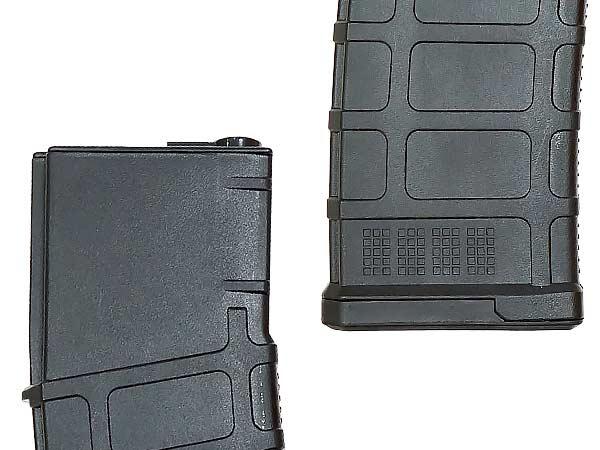 【CYMA製】電動ガン M4 M16用 450連マガジン P-MAG タイプ ゼンマイ巻き上げ式 (プラスチック製) BK / CYMA-M125