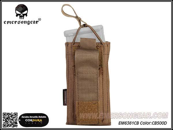 Emerson 5.56&Pistol Single Open Top Magazine Pouch CB / EM6361CB
