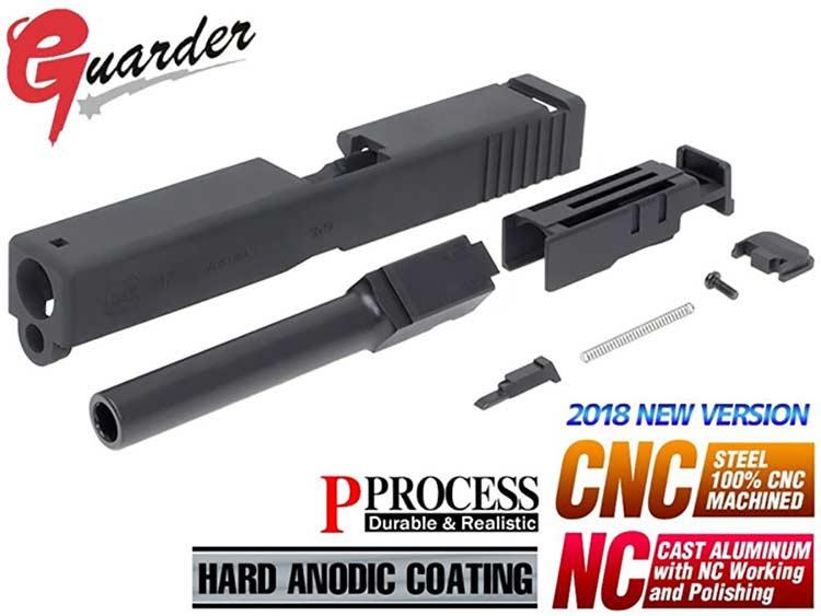【GUARDER(ガーダー)製】G17アルミスライド&スチールアウターバレル&ノ金属製ズルハウジングセット