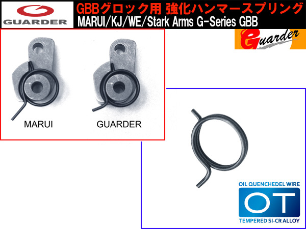 【GUARDER(ガーダー)製】 強化ハンマースプリング (MARUI/KJ/WE/Stark Arms G-Series GBB)