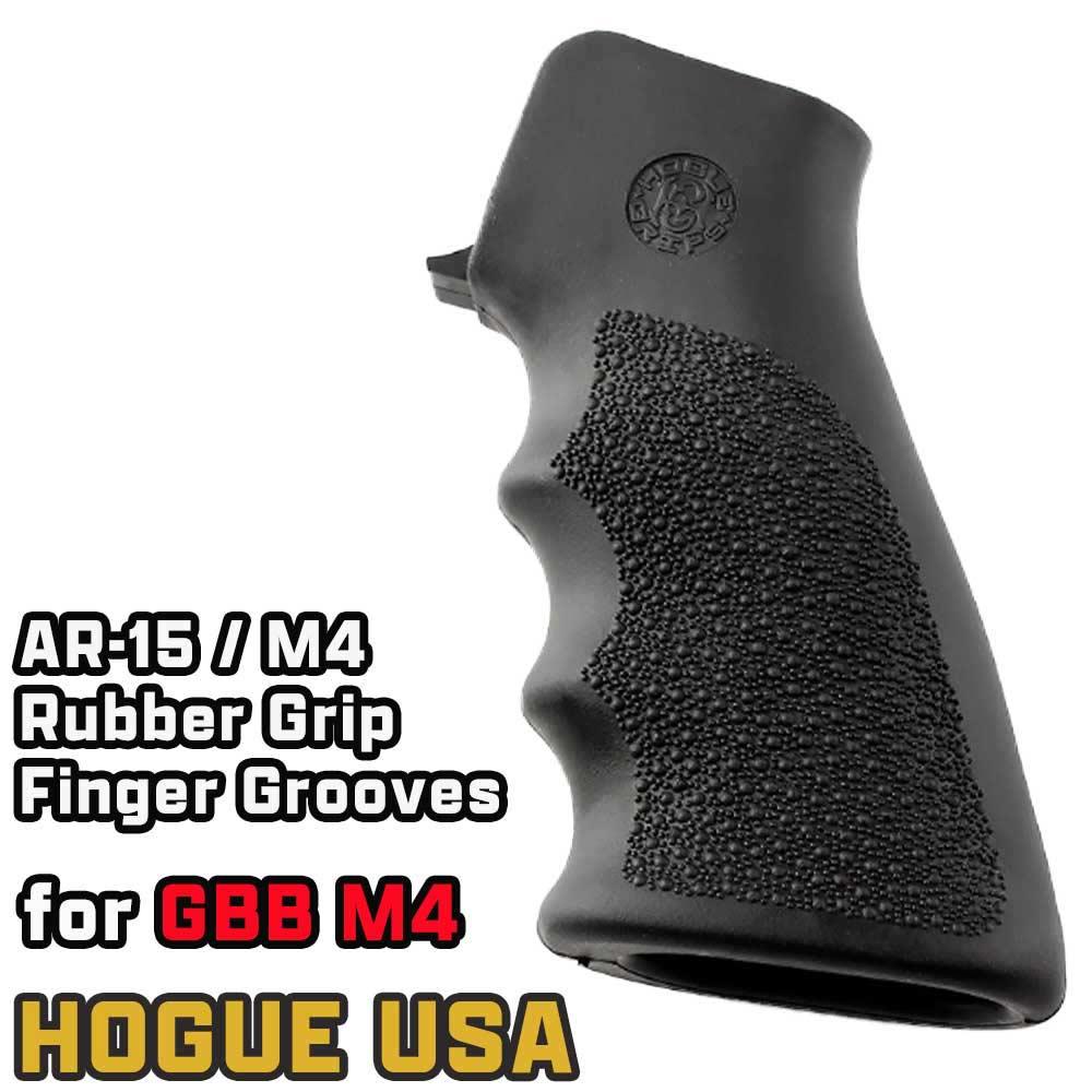 HOGUE ガングリップ AR15/M4/M16用 フィンガーグルーブ ラバー製 15000