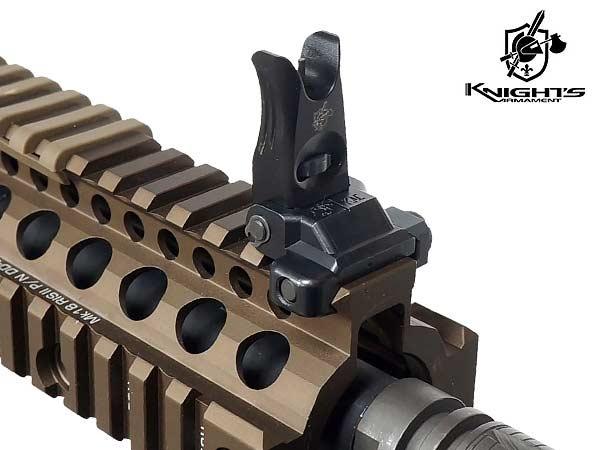 【KNIGHT'S ARMAMENT正式ライセンス】 KACフォールディング フロント & リアサイト セット 【200-600M】