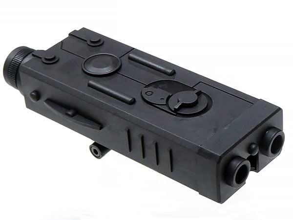 PEQ-2 タイプ バッテリーケース 20mmレイル対応 (M4/MP5 RAS/HK416等)プラスチック製 - BK(ブラック) / CY-C69