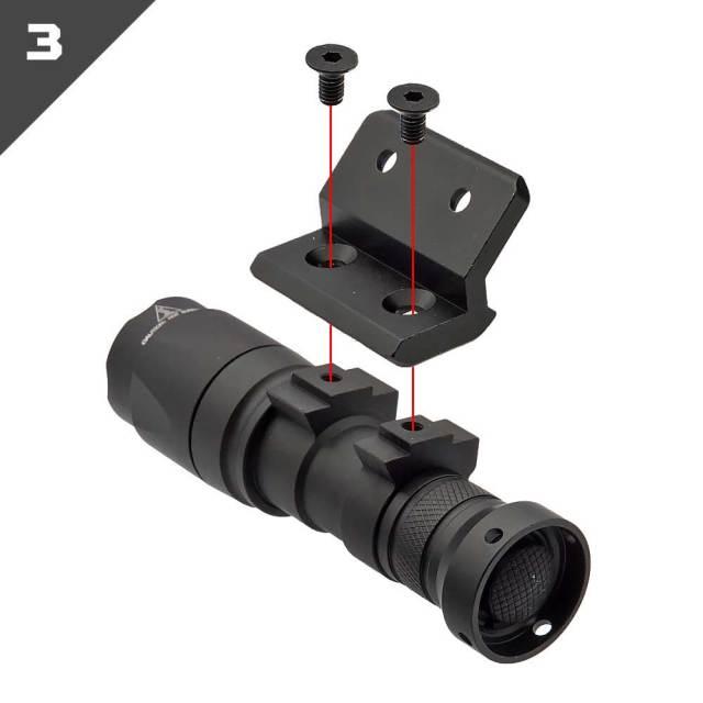 【WADSN製】 M-LOK & KeyMod 両対応 オフセット 20mmレイルマウント オフセットマウント