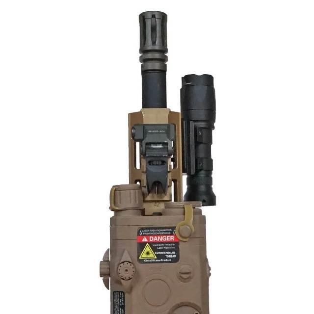 【WADSN製】 オフセット 20mmレイルマウント オフセットマウント 3スロット アルミ合金製 / BK ブラック WD02003-BK
