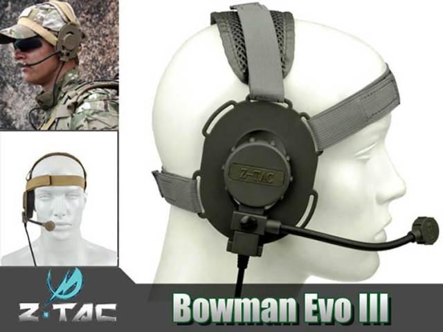 Z-TAC製 Z029 BOWMAN EVO IIIタクティカルヘッドセット(ミリタリータイププラグ)