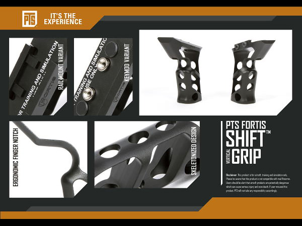 PTS Fortis Shift Vertical Grip