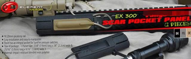【TangoDownタイプレプリカ】SCARスイッチポケット搭載レイルパネルレプリカ/TD Scar Pocket Panel/2種入EX300