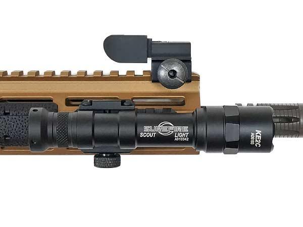 【SUREFIREタイプ】M600Bスカウトライトレプリカ  (リモート&プッシュスイッチ付) BK 高輝度LED搭載 【箱入】