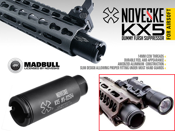 MADBULL製【Noveskeタイプレプリカ】 KX5 Dummy Flash Suppressor