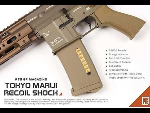 【PTS製】PTS EPM M4マガジン(30/120切替式) / 次世代電動ガン専用