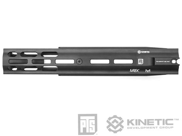 "PTS Kinetic SCAR MREX M-LOK 4.9"" Rail ハンドガード"
