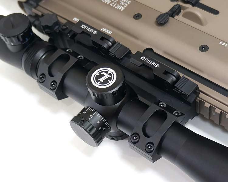 【American Defense タイプレプリカ】 1インチ/30mm径両対応!! QDレバー搭載 ワンピース スコープマウント