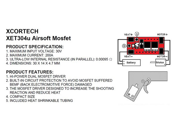 XCORTECH XET304μ MosFET
