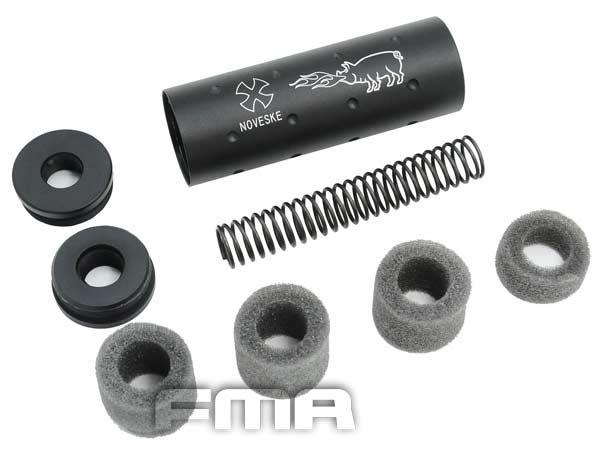 【FMA】NOVESKE ショートサイレンサー 108mm BK ブラック